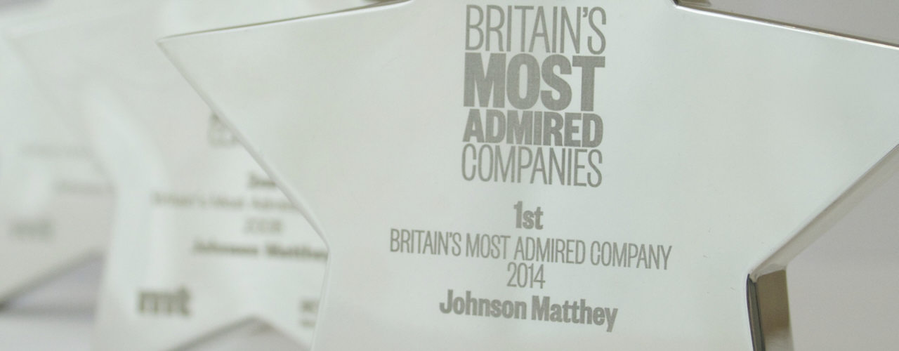 Johnson Matthey - one of Britain's most admired companies